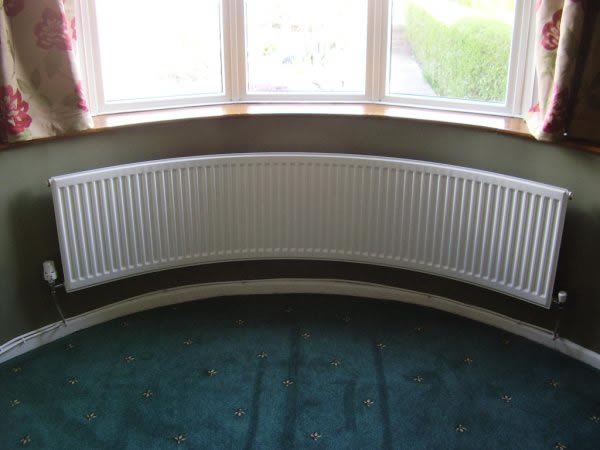 Curved radiators radiator curving angled bay window for Curved bay window